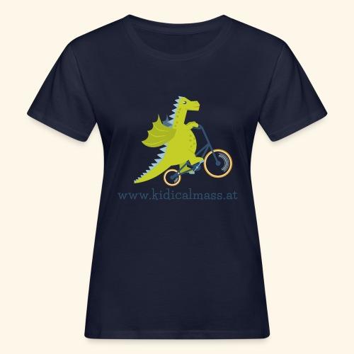 Musikdrache für hellen Hintergrund - Frauen Bio-T-Shirt