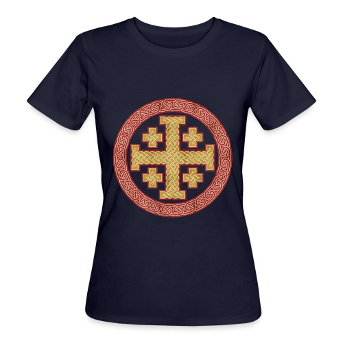 Jerusalem Style Celtic Cross - Women's Organic T-Shirt
