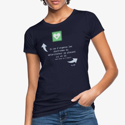 Défibrillateur - T-shirt bio Femme