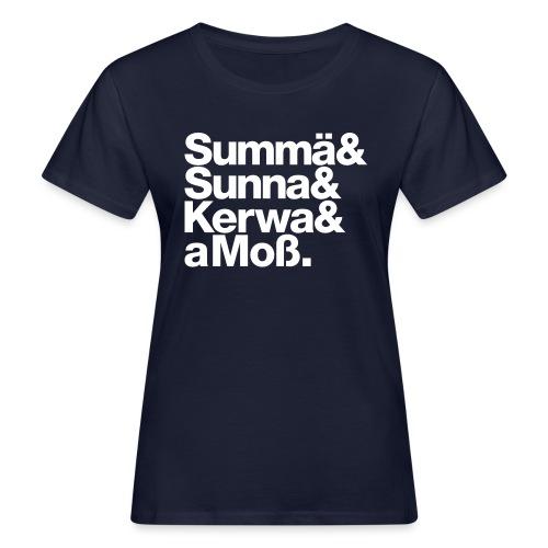 Summä Sunna Kerwa und aMo - Frauen Bio-T-Shirt