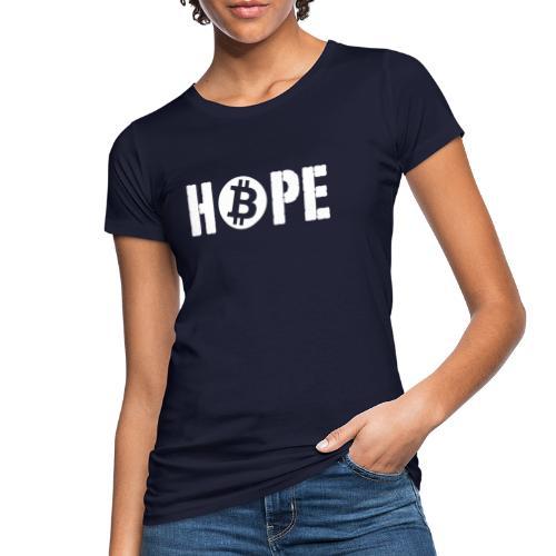 Black HOPE BTC - T-shirt bio Femme