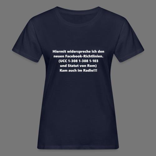 Facebook-AGB - Männer - Frauen Bio-T-Shirt