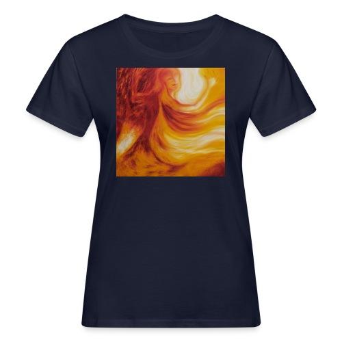 Die mit dem Feuer tanzt - Frauen Bio-T-Shirt