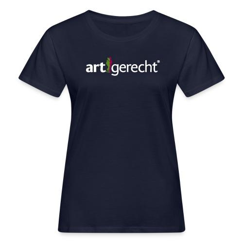 Artgerecht Logo weiss png - Frauen Bio-T-Shirt