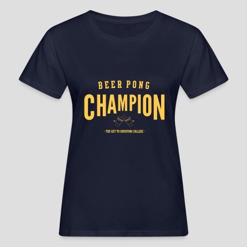 Beerpong Champion T-Shirt - Frauen Bio-T-Shirt