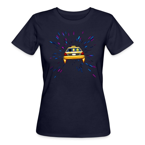Taxi in Space - Frauen Bio-T-Shirt