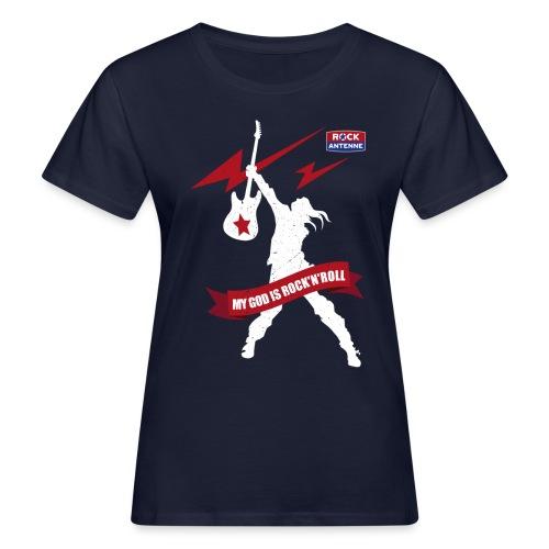 ROCK ANTENNE - My God is Rock'n'Roll Vers.2 - Frauen Bio-T-Shirt
