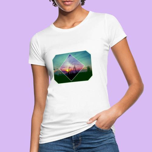 Tramonto in risalto tra figure geometriche - T-shirt ecologica da donna