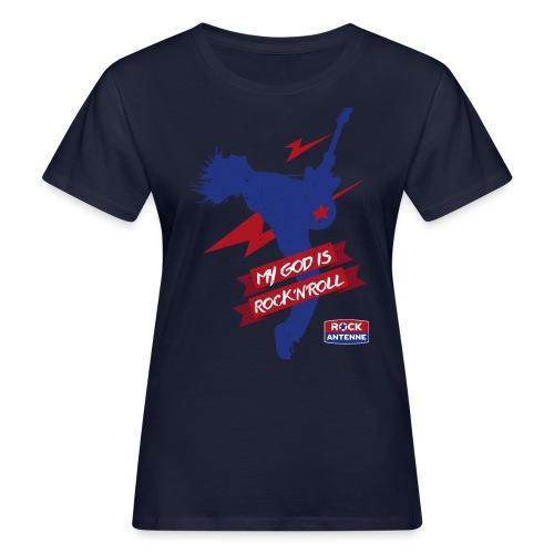ROCK ANTENNE - My God Is Rock'n'Roll Vers. 1 - Frauen Bio-T-Shirt