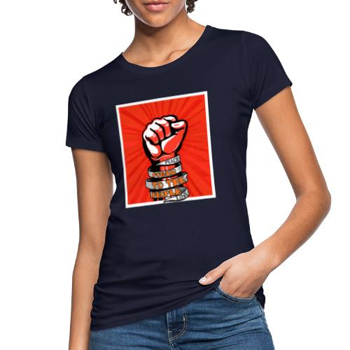 Peace, Power to the people, love, fist pump - Women's Organic T-Shirt