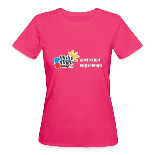 Philippinen-Blog Logo english schwarz/weiss - Frauen Bio-T-Shirt