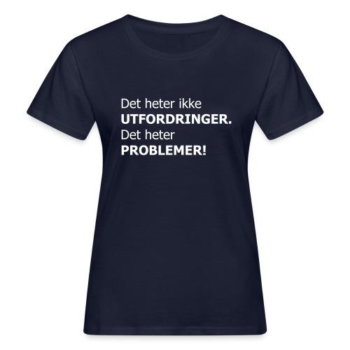 Det heter ikke utfordringer. Det heter problemer!