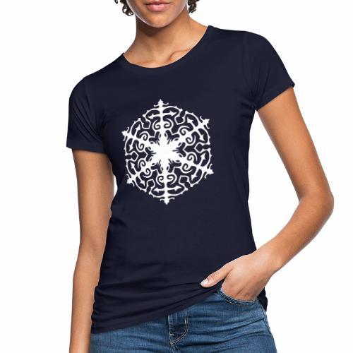 Schneeflocke Ornament Pixellamb - Frauen Bio-T-Shirt