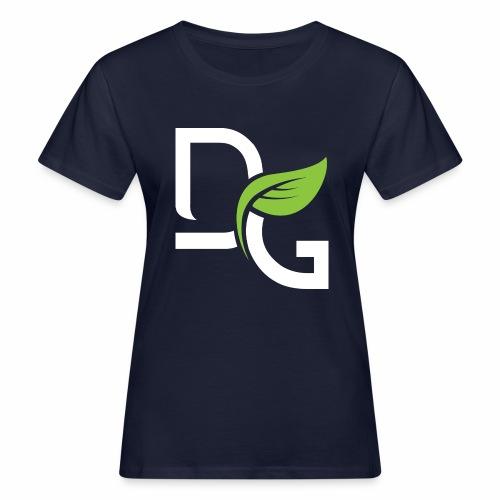DrGreen Logo Symbol weiss grün - Frauen Bio-T-Shirt