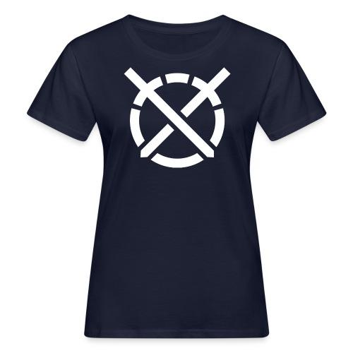 «Arte do Combate», simbolo em branco - Camiseta ecológica mujer
