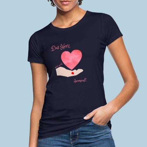 Das Herz wird nicht dement! Demenzbetreuung Pflege - Frauen Bio-T-Shirt