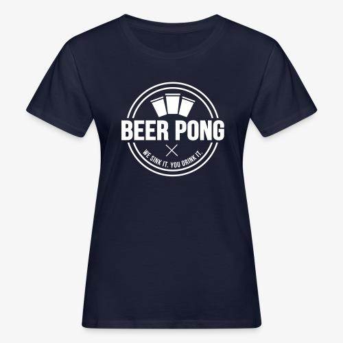 Beer Pong Logo V - Frauen Bio-T-Shirt