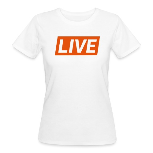LIVE streaming - T-shirt ecologica da donna