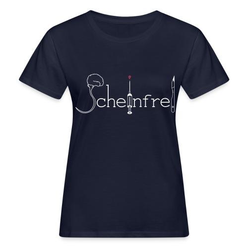 scheinfrei weiß schwarz rot - Frauen Bio-T-Shirt