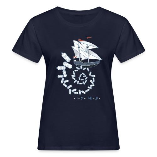 VISTA MARE (nave) - T-shirt ecologica da donna