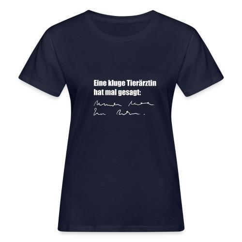 Kluge Tierärztin - Frauen Bio-T-Shirt