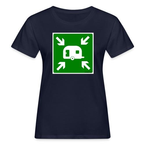Meeting Point Caravan - Frauen Bio-T-Shirt