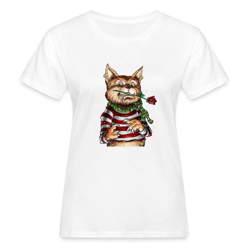 T-shirt - Crazy Cat - T-shirt bio Femme