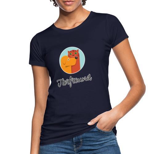 Tierfreund mit Schriftzug - Frauen Bio-T-Shirt