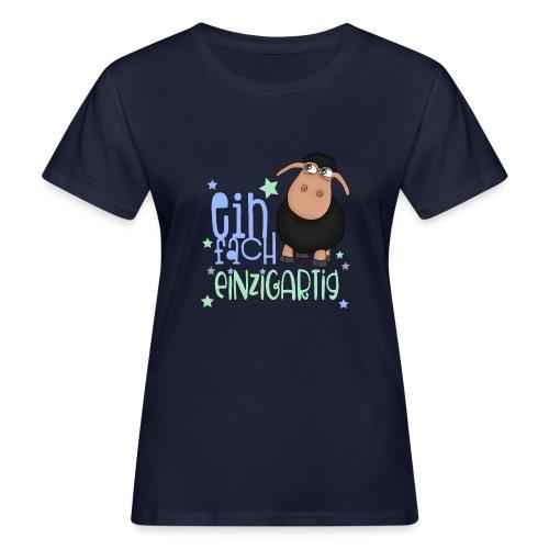 Einfach einzigartig: schwarzes Schaf kleines Schaf - Frauen Bio-T-Shirt