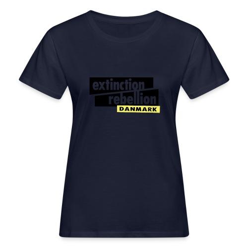 Extinction Rebellion Danmark SORT logo - Organic damer