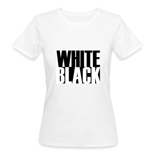 White, Black T-shirt - Vrouwen Bio-T-shirt