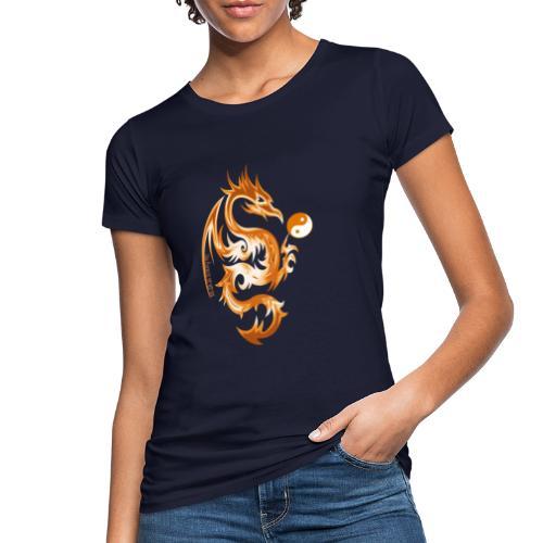 Der Drache spielt mit der Energie des Lebens. - Frauen Bio-T-Shirt