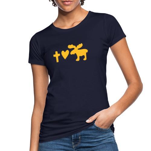 Glaube, Liebe, Elch! - Frauen Bio-T-Shirt