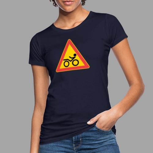 Traffic sign Recumbent - Naisten luonnonmukainen t-paita