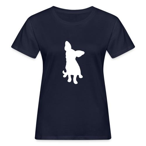 Chihuahua istuva valkoinen - Naisten luonnonmukainen t-paita