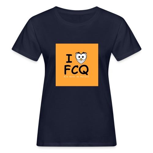 I Love FCQ button orange - Frauen Bio-T-Shirt