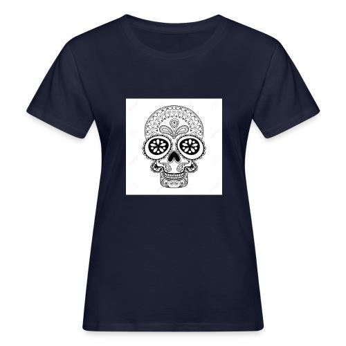 51457190 Disegno a mano Cranio in stile zentangle - T-shirt ecologica da donna