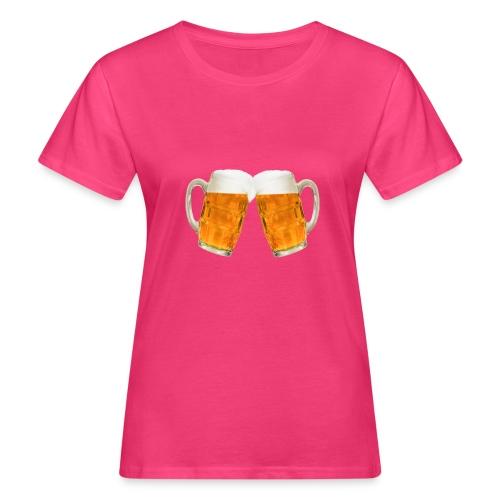 Zwei Bier - Frauen Bio-T-Shirt