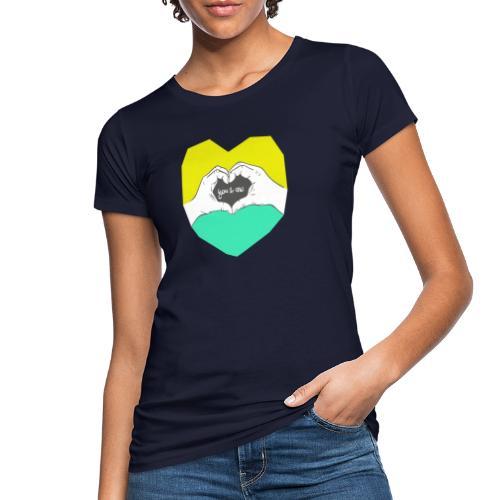 hearthands you & me Poly Herz illustration - Frauen Bio-T-Shirt