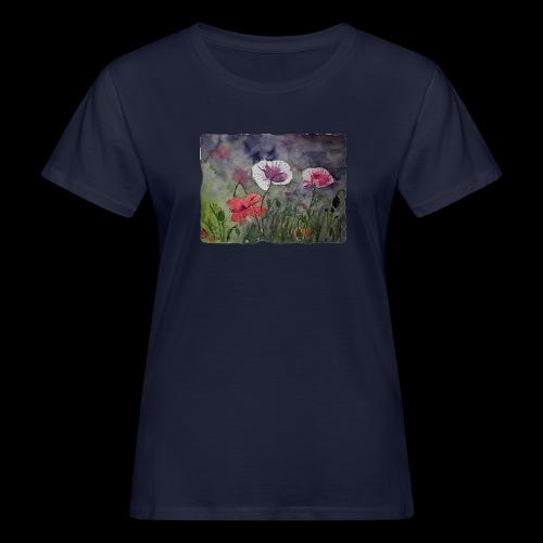 Mohnblume - Frauen Bio-T-Shirt