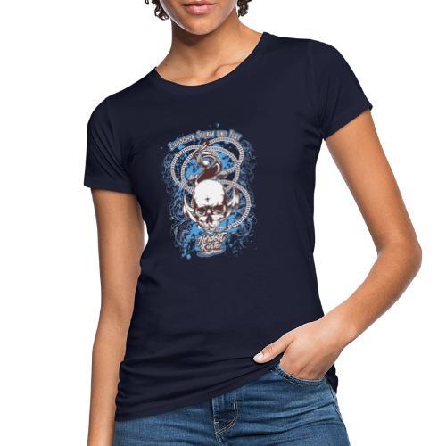 Skull Anker Design Art - Frauen Bio-T-Shirt