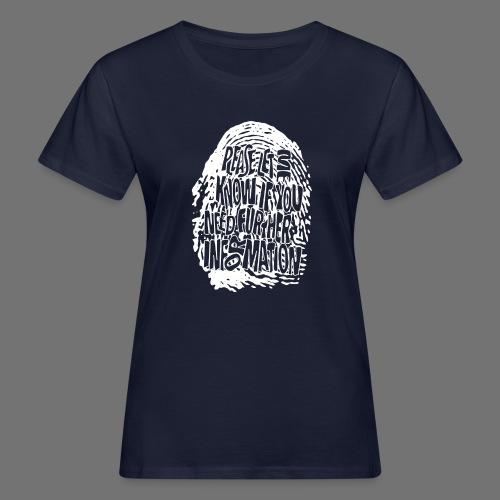 Fingerprint DNA (white) - Frauen Bio-T-Shirt