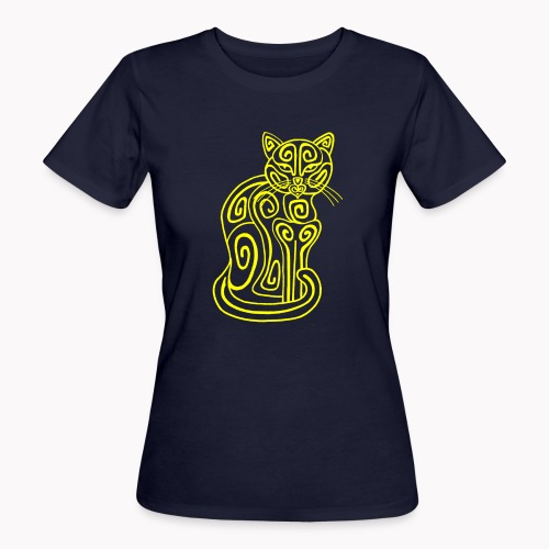 Chat jaune - T-shirt bio Femme
