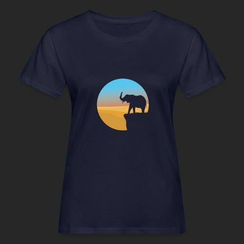 Sunset Elephant - Women's Organic T-Shirt