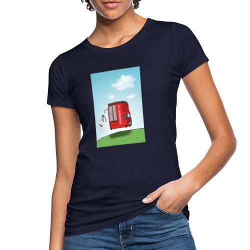 Feuerwehrwagen - Frauen Bio-T-Shirt
