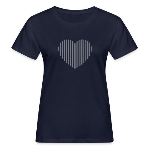 heart_striped.png - Women's Organic T-Shirt