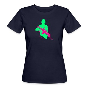 Knallige Farben - Shooter - Let's Shoot - Frauen Bio-T-Shirt