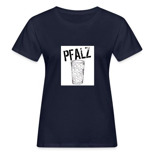 Pfalzshirt mit Dubbeglas, weiß - Frauen Bio-T-Shirt