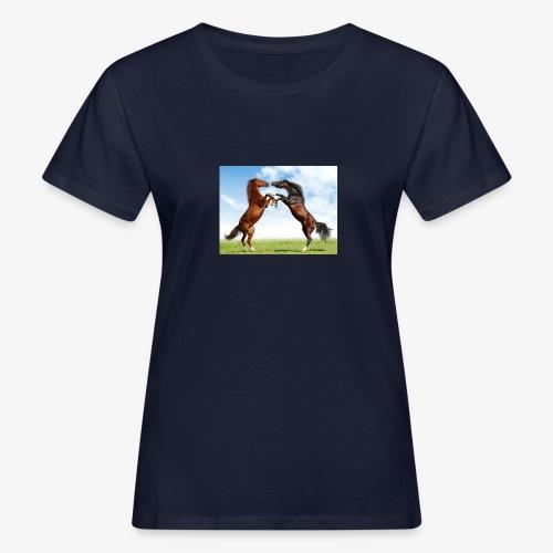 kaksi hevosta - Naisten luonnonmukainen t-paita