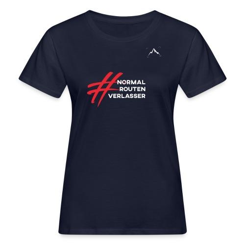 Expedition Marke, #Normalroutenverlasser, white - Frauen Bio-T-Shirt